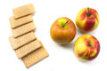 Free Baby Healthy Food Crackers And Bio Apples Royalty Free Stock Images - 28108349