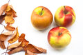 Free Autumn Decoration With Apples And Leaves Royalty Free Stock Photography - 28108477