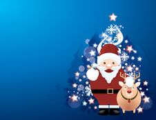 Free Christmas Background With Santa Royalty Free Stock Photography - 28100567