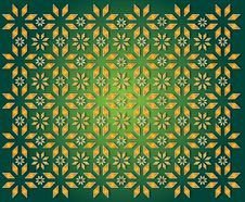 Free Green Background Of Golden Christmas Star Royalty Free Stock Image - 28101336