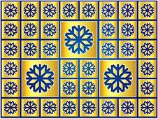 Free Christmas Blue And Gold Snowflakes Royalty Free Stock Images - 28101379