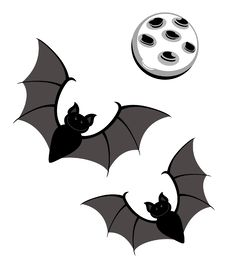 Free Flying Bats With Moon Royalty Free Stock Photography - 28105207