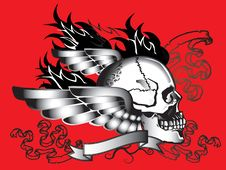 Free Art Skull Pattern Tattoo Stock Photos - 28106813