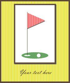 Free Golf Card Royalty Free Stock Photo - 28107425