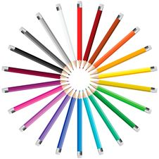 Free Pencils In A Circle Royalty Free Stock Photos - 28107748