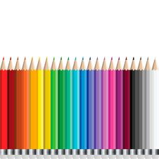 Free Pencils Set Stock Images - 28107764