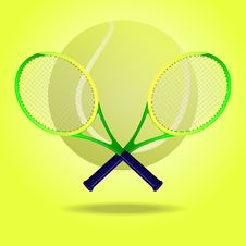 Free Tennis Rackets Stock Image - 28107781