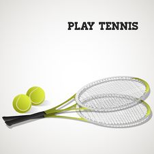 Free Tennis Rackets And Balls Stock Images - 28107794