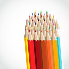 Free Vector Color Pencils Royalty Free Stock Images - 28107799