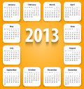Free Calendar For 2013 On White Stickies Royalty Free Stock Photo - 28111355
