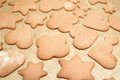 Free Homemade Gingerbread Cookies With Different Shapes Stock Image - 28112971