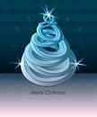 Free Blue Tree Shape Swirl With Circle Stars On Pattern Royalty Free Stock Image - 28112976