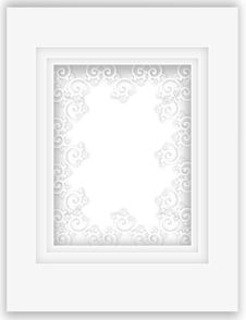 Free Beautiful Pure White Paper Applique Frame Royalty Free Stock Photo - 28111465