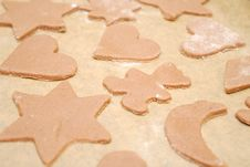 Free Homemade Gingerbread Cookies With Different Shapes Royalty Free Stock Photo - 28112945