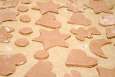 Free Homemade Gingerbread Cookies With Different Shapes Stock Photography - 28112952
