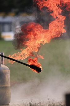 Fire From The Tank. Stock Image
