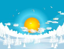 Free Winter Sun Stock Images - 28117334