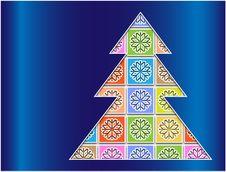 Free Pastel Snowflakes Bounded Contour Tree Royalty Free Stock Image - 28117826