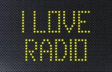 Free Love Radio Speaker Stock Photography - 28119772