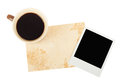 Free Old Note Paper With Coffee Cup Stock Images - 28122774