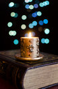 Free Burning Candle And Old Book Royalty Free Stock Images - 28127559