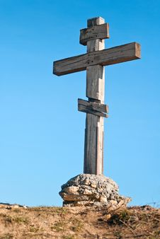 Free Old Wooden Cross Stock Photos - 28121073