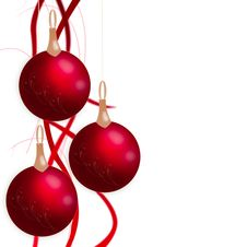 Free Christmas Balls Hanging With Tapes Royalty Free Stock Photo - 28123175