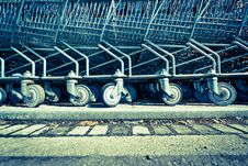 Free Shopping Trolleys Stock Images - 28123964