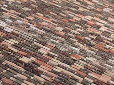 An Old Clay Tile Roof Stock Photos
