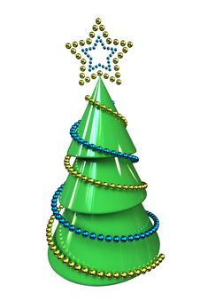 Free Abstract Christmas Tree Royalty Free Stock Image - 28125406