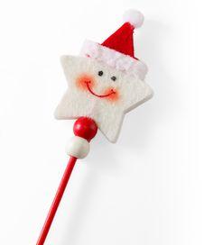 Smiling Star-Shaped Christmas Decoration Stock Photos