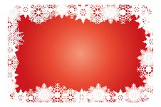 Free Snowflake Christmas Card Royalty Free Stock Images - 28127859