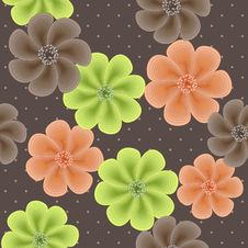 Cute Seamless Floral Pattern Royalty Free Stock Images