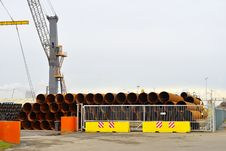 Industrial Steel Pipes Stock Photography