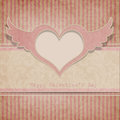 Free Vintage Valentine&x27;s Day Background With Heart Stock Photography - 28131812