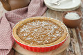 Free Pie With Pumpkin, Chocolate In Ceramic Form Royalty Free Stock Photography - 28134937