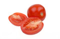 Free Whole Tomatoes And Cut In Half Isolated Stock Photo - 28135220