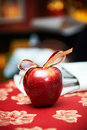 Free Red Apple With Bow Royalty Free Stock Photos - 28136438