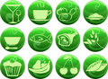 Free Food Icons On Buttons Stock Image - 28137471