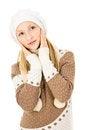 Free Girl In A Winter Cap Stock Photos - 28138773