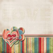 Free Valentine Background With Hearts Stock Images - 28131804