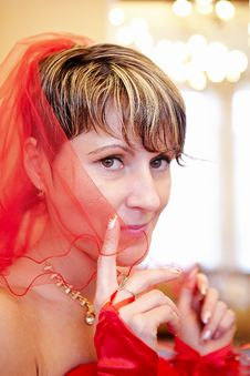 Free Portrait Of The Beautiful Girl Bride Stock Photo - 28132060
