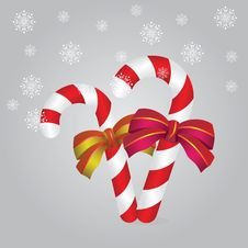 Candy Canes Background Stock Images