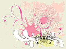 Free Grunge Pink Floral Ornament Royalty Free Stock Image - 28133466