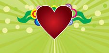 Free Heart On Green Background Stock Images - 28133474