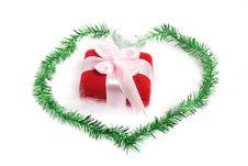 Free Christmas Gift On Love Border Stock Image - 28133881