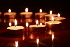 Free Candles On Dark Royalty Free Stock Photo - 28134375