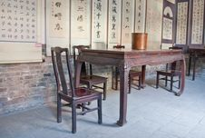 Free Asian Table And Chair Stock Photography - 28134522