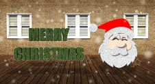 Merry Christmas With Santa Claus Royalty Free Stock Image