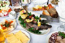 Free Fish And Snacks Stock Photo - 28138970